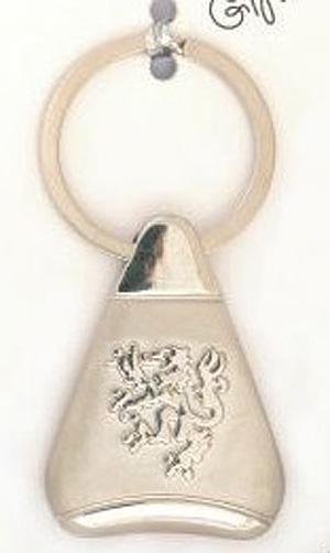Thistle Triangular Scottish quality keyring (metal)