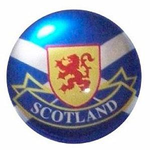 Round Scottish Flag & Lion Rampart Magnet (Fridge Magnet)
