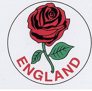English Rose Round Decal Car Sticker