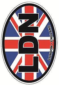 LDN LONDON - Union Jack English Decal Car Sticker