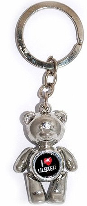 I Love Ulster - Teddy Bear Irish Keyring