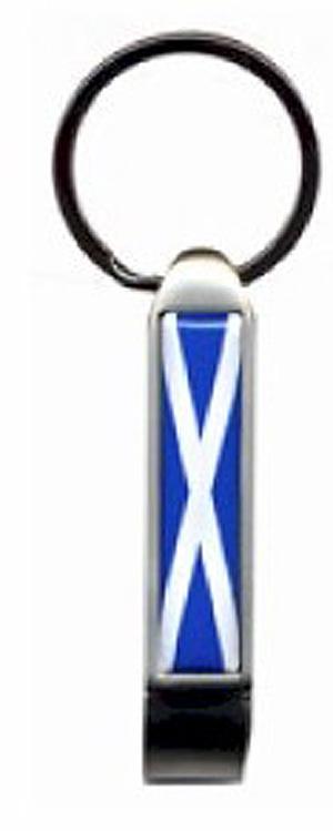 Scottish Saltire Flag Long Keyring (Souvenir of Scotland)