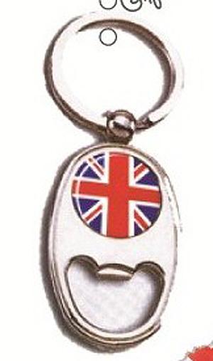 Union Jack  Bottle Opener & Keyring - England - UK - British Key Chain (Party piece)