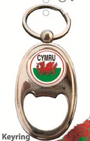 CYMRU Flag Dragon Quality BOTTLE OPENER & KEYRING / Welsh