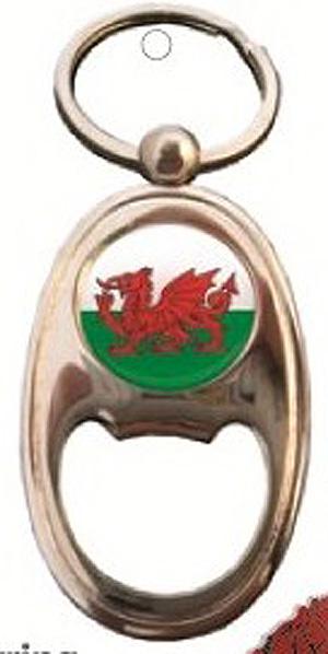 Wales BOTTLE OPENER & KEYRING - Welsh Dragon (Welsh gift !)