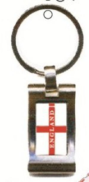 ENGLISH Natonal Flag Rectangle KEYRING / Key Chain (Proud to be English)