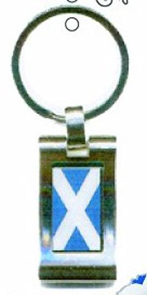 Scotland Flag Metal Keyring (Bonnie Scotland)