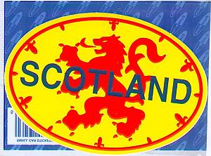 Scotland Oval Lion Rampart Sticker (Decal Car Sticker)