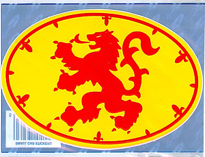 Royal Standard Scottish Decal Car Sticker