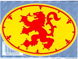Royal Standard Scottish Decal Car Sticker (Lion Rampart)