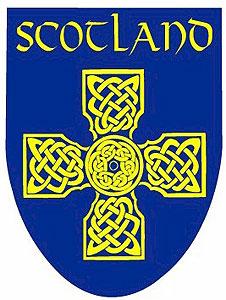 Scottish Blue Celtic Cross (Decal Sticker)