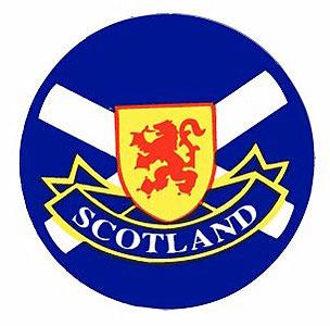 Scotland Flag & Lion Rampart (Decal Car Sticker)