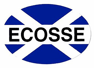 Ecosse Scotland Flag Car Sticker