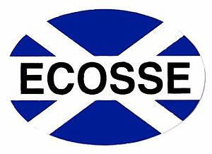 Ecosse Scotland Flag Car Sticker (nice sticker)