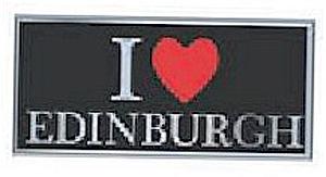 I Love Edinburgh Fridge Magnet (Scottish Souvenir)