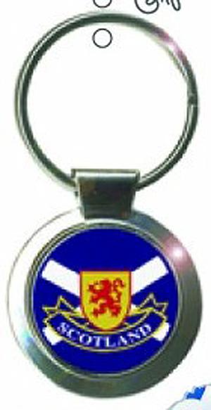 Scotland Lion & Flag quality Keyring (From Bonnie Scotland)