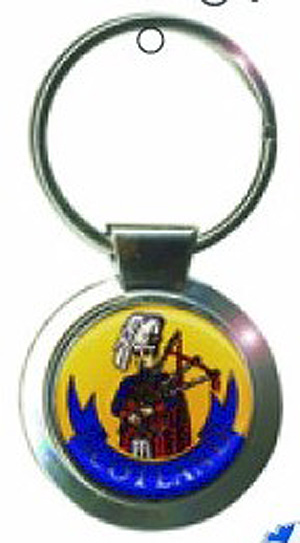 Scottish Piper & Bagpipes Keyring Keychain