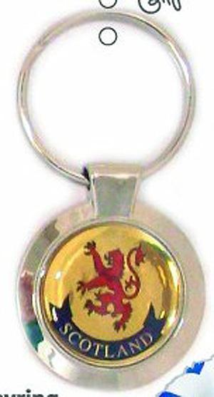 Scottish Lion quality Keyring (Bonnie Scotland)