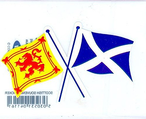Twin Flag Patch - St Andew & Royal Standard (Embroidered Scottish)