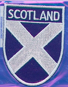 Embroidered Patch - Scotland Crossed Flag