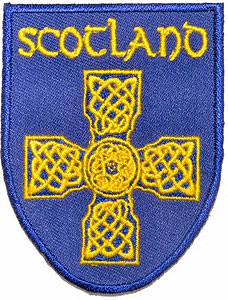 Scottish Blue & Yellow Celtic Cross Patch