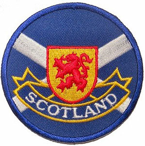 Scotland Patch - Crossed Flag & Lion Rampart