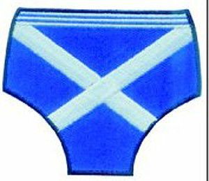 Scottish Flag Underpants Patch