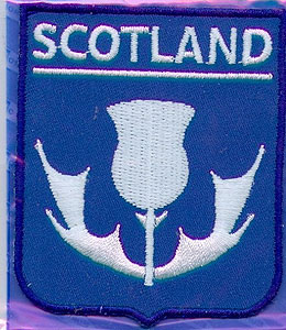 Scottish Thistle Symbol Patch