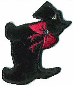 Scottie Dog Terrier Black Patch