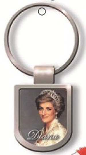 Princess Diana Quality Metal British Keyring (Beautiful memento)