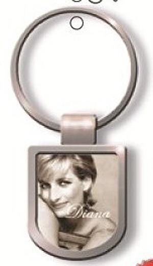 Princess Diana b/w Metal British KEYRING Key Chain - UK England Gift (The People