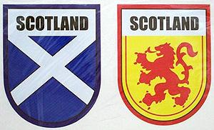 Scottish Saltire & Lion Decal Stickers (symbols of Scotland)