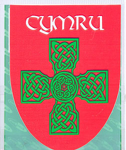 Cymru Wales Welsh Celtic Cross Decal Car Sticker