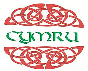 CYMRU Wales Welsh Red Celtic Knot Oval Decal Car Sticker