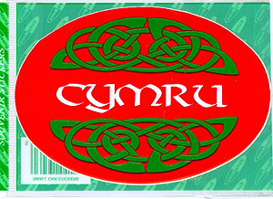 Cymru Red Welsh Celtic Knot Decal Car Sticker