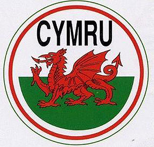 CYMRU WELSH Dragon Round Decal Car Sticker - Wales - UK