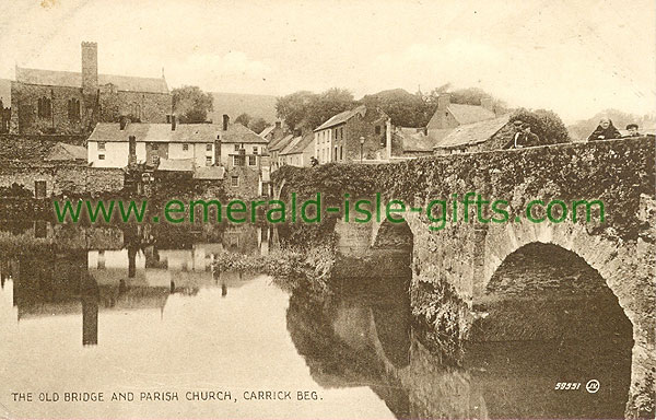Tipperary - Carrick Beg - The Old Bridge and Church