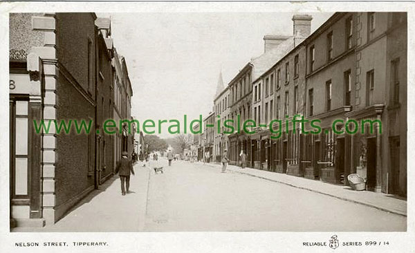 Tipperary Town - Nelson Street in b/w