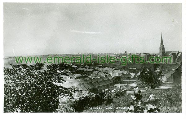 Westmeath - athlone - general view (old b/w Irish photo)