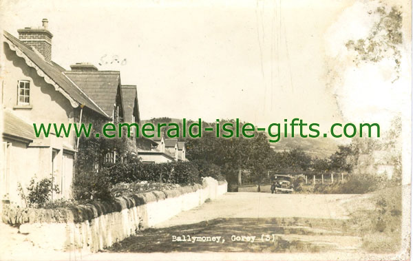 Wexford - Ballymoney - old b/w Irish print