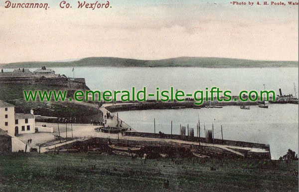 Wexford - Duncannon Harbour - old print