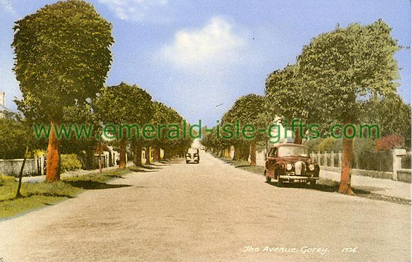 Wexford - Gorey - The Avenue (old colour Irish photo)