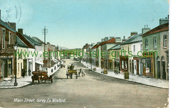 Wexford - Gorey - Main Street (old colour Irish photo)