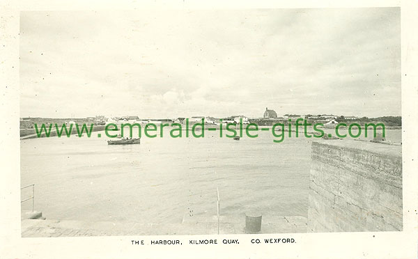 Wexford - Kilmore Quay - The Harbour (old b/w Irish photo)
