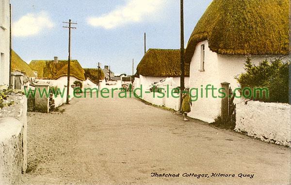 Wexford - Kilmore Quay - Street scene (old colour Irish photo)