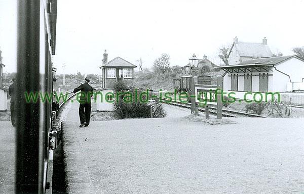 Wexford - Killinick - Train Station (old b/w Irish photo)