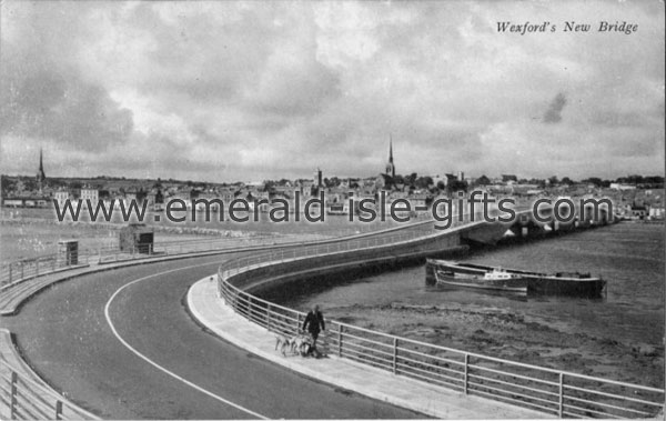Wexford Town - New Bridge - old b/w photo