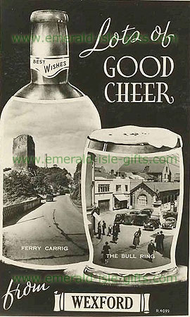 Wexford Cider old b/w advert photo
