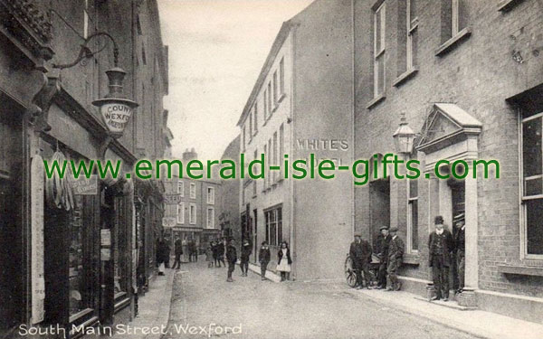 Wexford Town - b/w photo - South Main St
