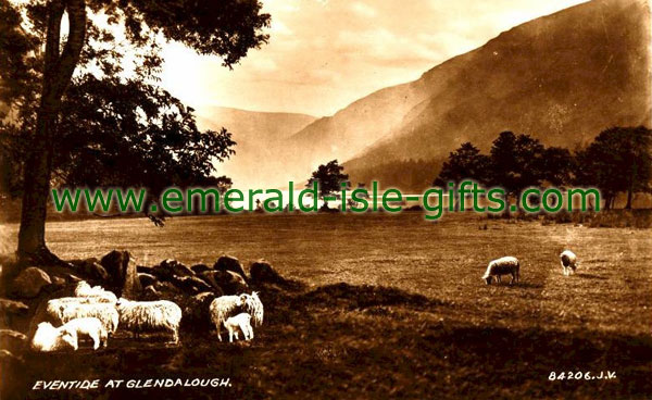 Wicklow - Eventide at Glendalough - old photo